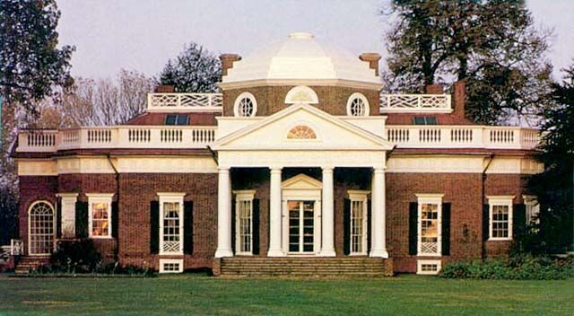 Thomas Jefferson's home—Monticello. Now it become a place to visit.