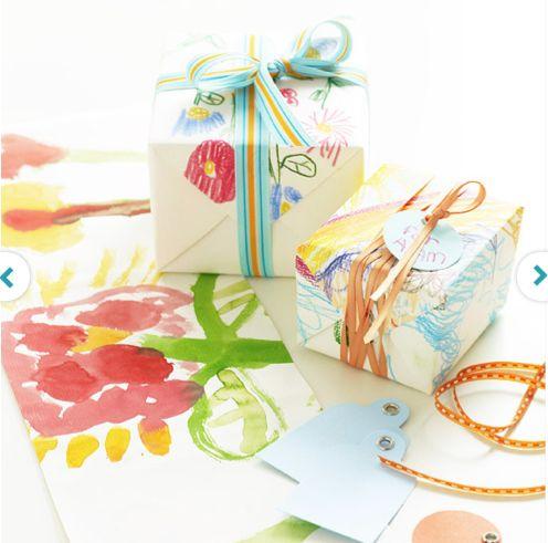 DIY Father's Day gift ideas: kid art giftwrap #diy #crafting #kidsGift Ideas, Diy Gift, Fathers Day Gift, Gift Wraps, Kids Art, Dads Gift, Wraps Paper, Kids Gift, Wraps Ideas