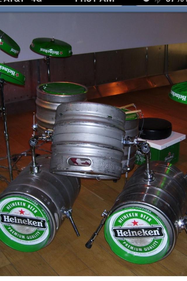 Heine drum set...COOL!!!   Heineken Stuffs   Pinterest ...