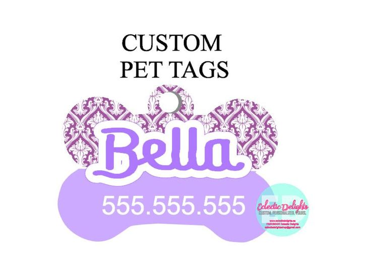 A personal favorite from my Etsy shop https://www.etsy.com/ca/listing/472174113/custom-dog-tag-personalized-pet-tag-pet