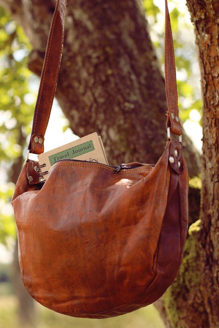 Handtasche Ledertasche Umhängetasche Vintage Anna Gusti Leder das Original braun Tasche Damentasche kleine Shopper