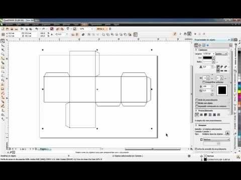 Como fazer uma caixa cubo (6,5 x 6,5 cm) - CorelDRAW X6