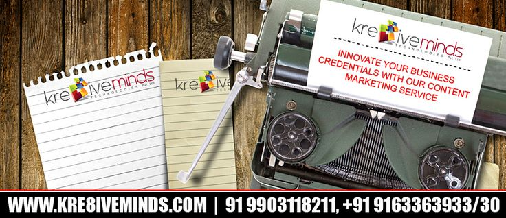 Innovate Your Business Credentials With Our Content Marketing Service at an affordable cost! http://www.kre8iveminds.com/