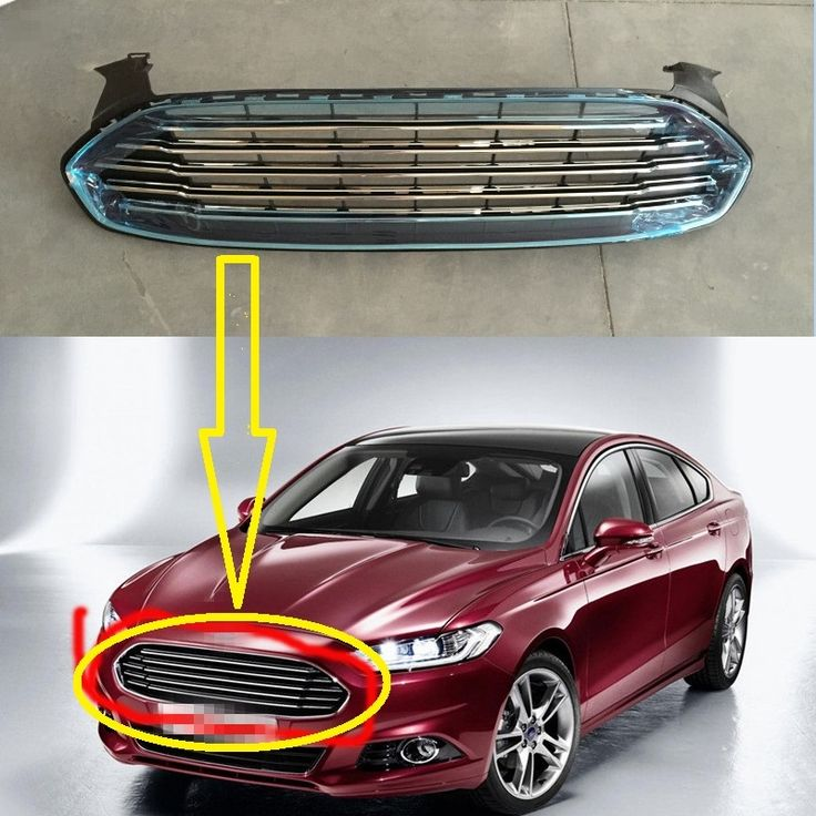 1 PC Skin Line Front Bumper Upper Grille All Electroplate Chromed Strip For Ford Mondeo Fusion