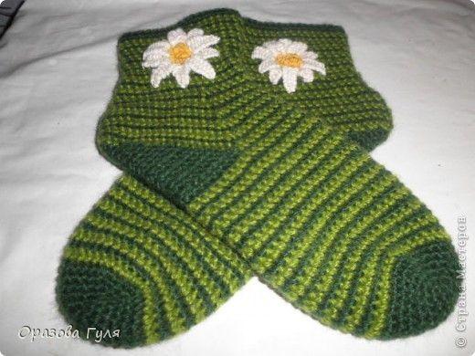 тунисское вязание крючком носки