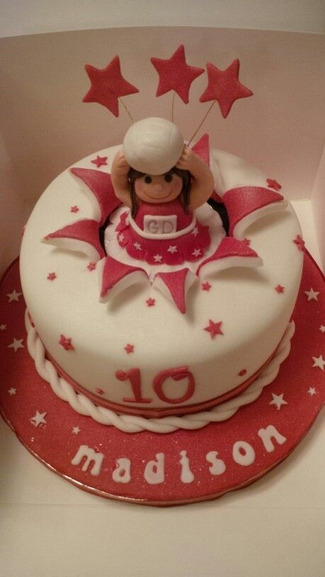 Netball goal defence birthday cake x