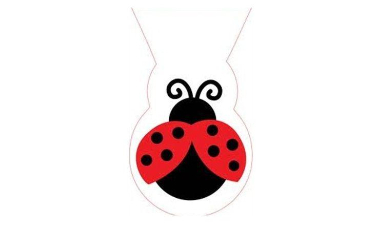 Ladybug Shaped Cellophane Bags - 12pk