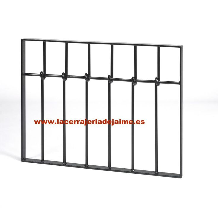 Reja con nudos de hierro forjado rejas de hierro de la cerrajeria de jaime pinterest - Rejas hierro forjado ...
