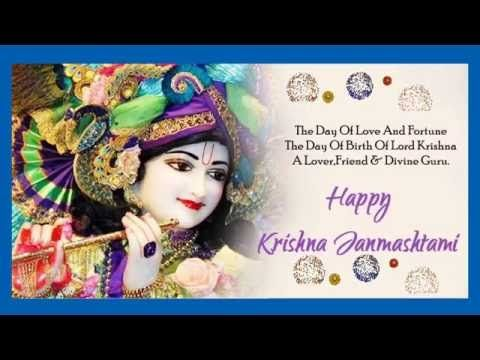 Beautiful Happy Krishna Janmashtami wishes in Hindi, Greetings, SMS, Whatsapp video - YouTube