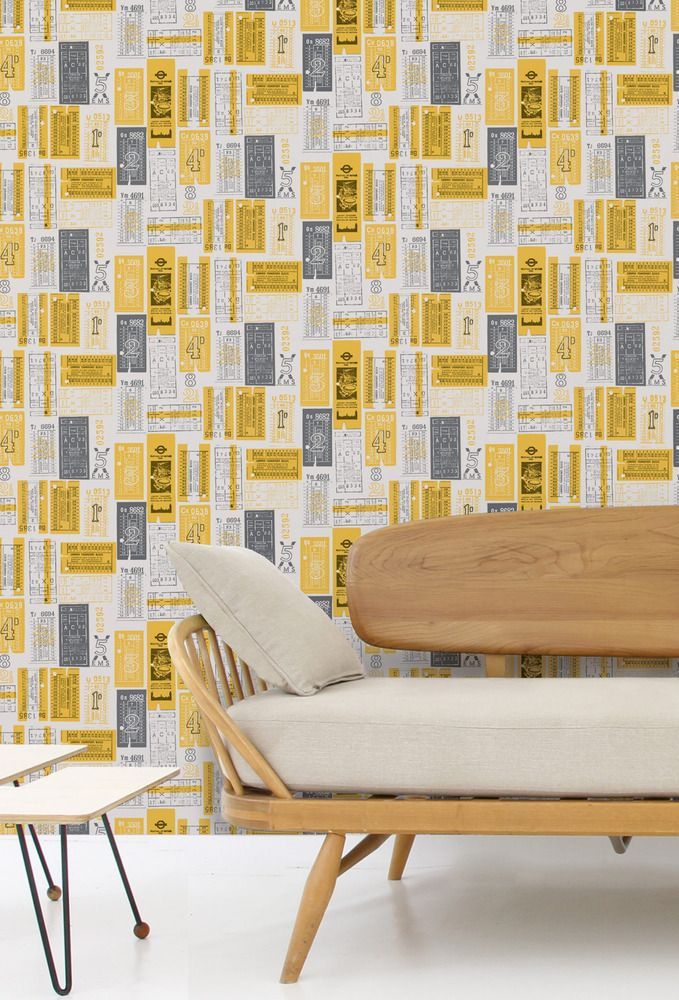 Image of Hold Tight Wallpaper - Mustard