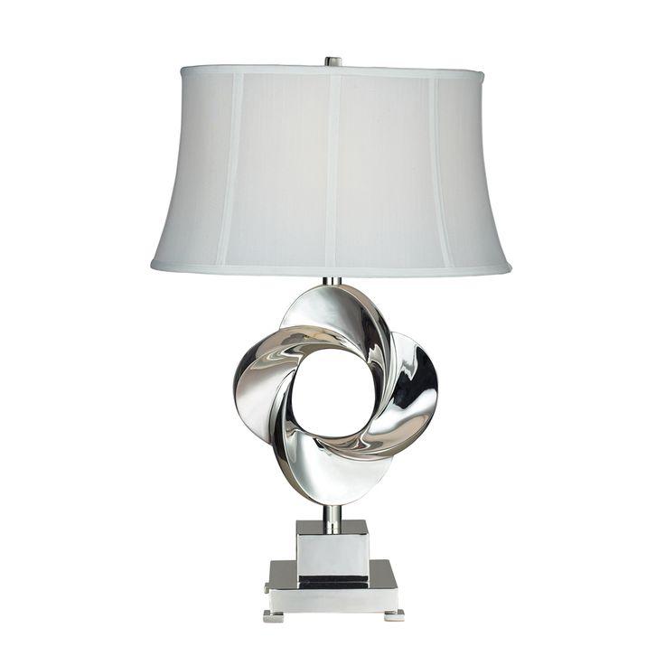 Dimond Lighting D2061 Contemporary Burnham 1 Light Table Lamp Shown In Chrome Finish