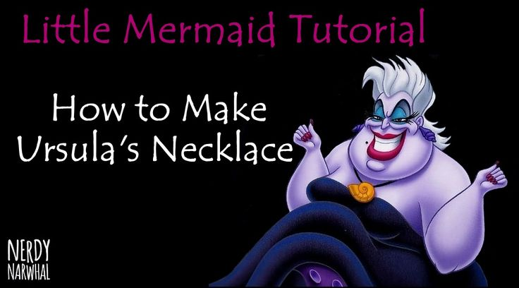 A step-by-step #tutorial on how to make Ursula's #necklace #DIY