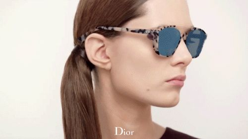 The Dior Abstract sunglasses from the women's Autumn-Winter 2015-16 collection. More on Diormag.com.