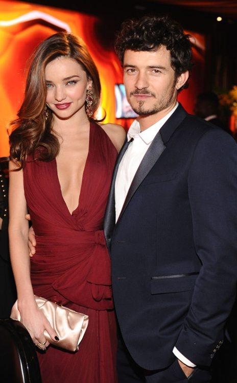 Miranda Kerr, Orlando Bloom  InStyle & Warner Bros. After Party, Beverly Hilton Hotel