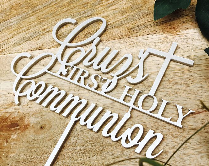 Featured listing image: Holy Communion Cake Topper Communion cake topper Personalised Communion Cake Topper Cake Decoration Cake Decorating Cross cake top religious