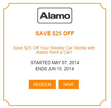 Car Rental Coupon, perfect for the summer travelers.  Save $25 on your weekly Car Rental with Alamo.  I'm in! - Are you? http://www.imin.com/store-coupons/alamo-rent-a-car/