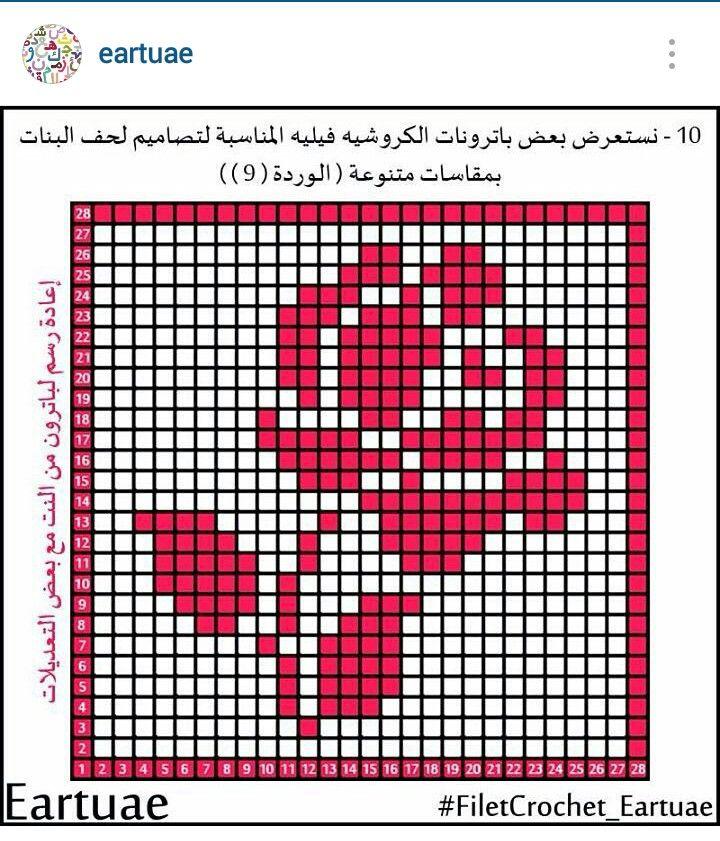 Instagram @eartuae - filet crochet rose