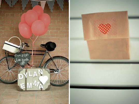 wedding bike prop