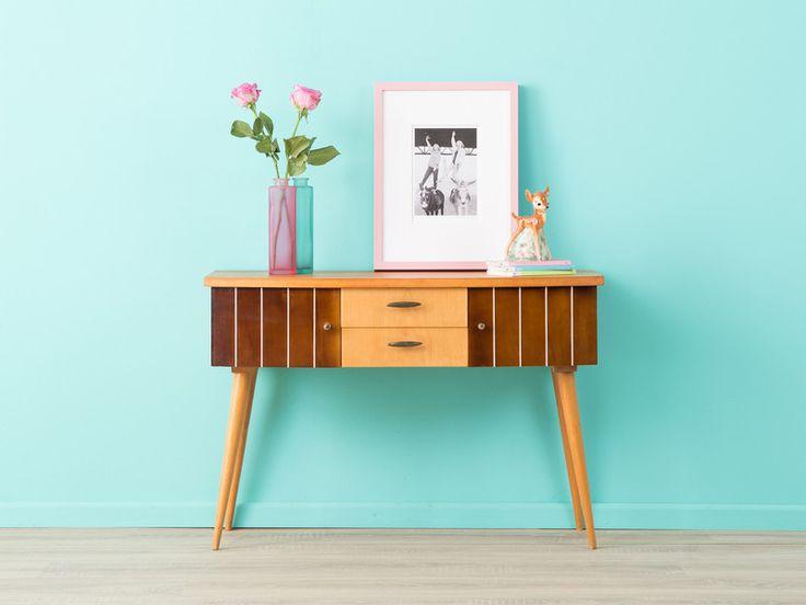 teak sideboard 60er kommode 50er vintage omnia vintage products and friends. Black Bedroom Furniture Sets. Home Design Ideas