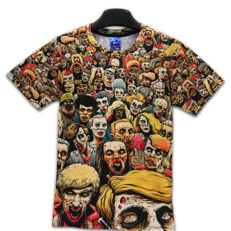 T-Shirt New The Walking Dead Men T Shirts Walker Skull Zombies High Quallity Crewneck Top Tees Short Sleeve Summer //Price: $17.26 & FREE Shipping //     #glenn