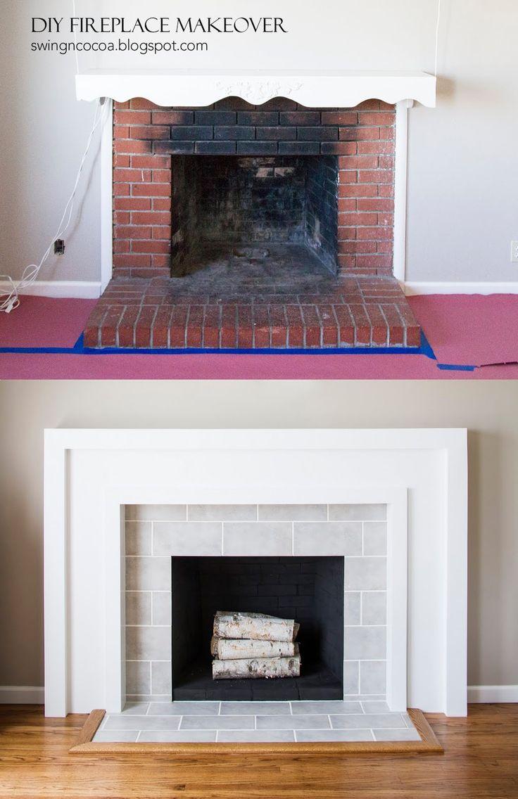 Best 25+ Subway tile fireplace ideas on Pinterest | White fireplace surround,  White fireplace and White fireplace mantels
