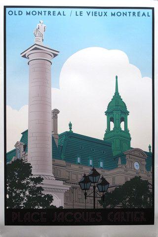 2012 Modern Retro Poster for Montreal - Thomas