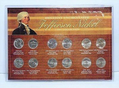 #coins American Coin Treasures Brilliant Uncirculated Jefferson Nickel Coin Collection please retweet