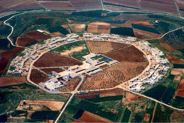 Vista aérea de Miraelrio .- Vilches (Jaén) .Año 1964