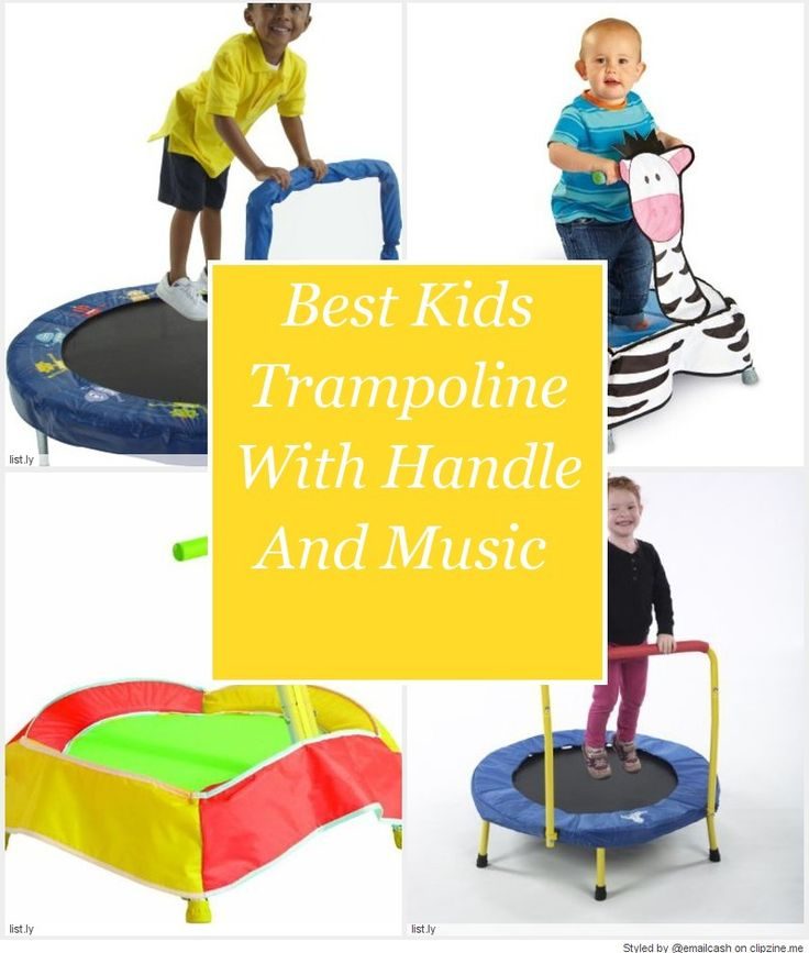 Best Kids Trampoline With Handle And Music