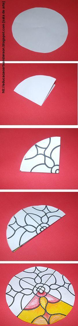 Living Art: Visual Elements - Mandalas. Gosh do I pin this in art or maths! So simple.