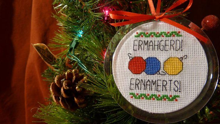 cross stitch meme ornaments? ermergerd! yers!!!