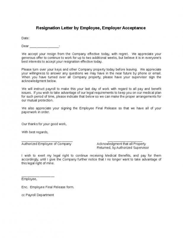Employee Resign Letter Resignation Form Resignation Resignation Letter