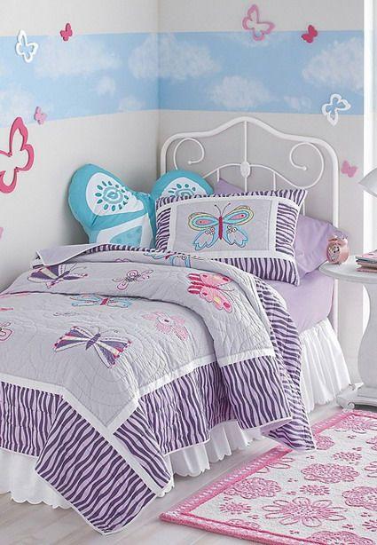 Mariposas dormitorio infantil decoraci n habitaciones - Habitaciones infantiles para nina ...