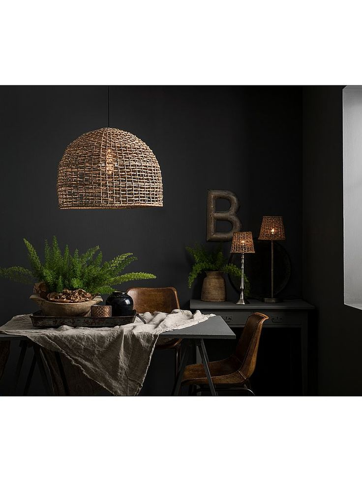 Taklampa PR Home Cebu. Tillverkad i naturmaterial.