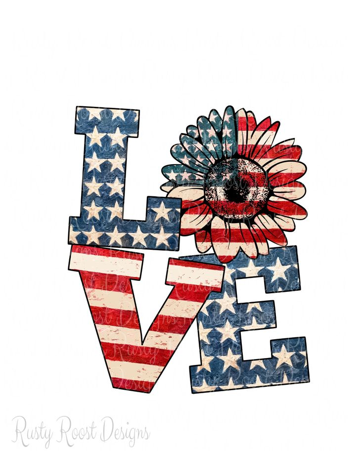 Love 4th of July sublimation design,digital download,sublimation design download,USA flag,4th of July png,clipart,sunflower png,America png