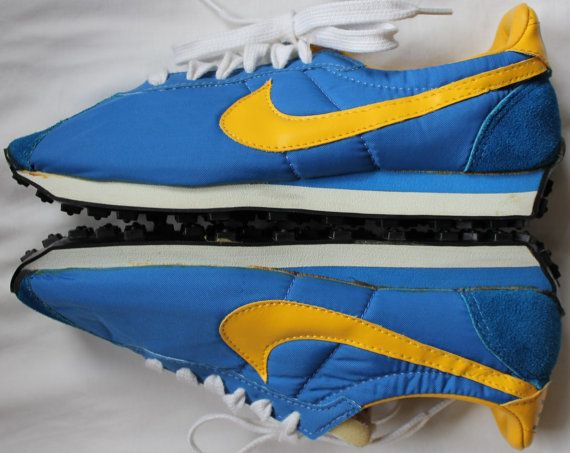 get cheap b3440 e9b0c vintage 80s blue nike cortez running shoes swoosh