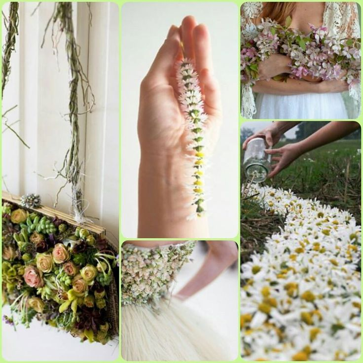 Margarete #inspiration #moodboard #green #natural #flowers