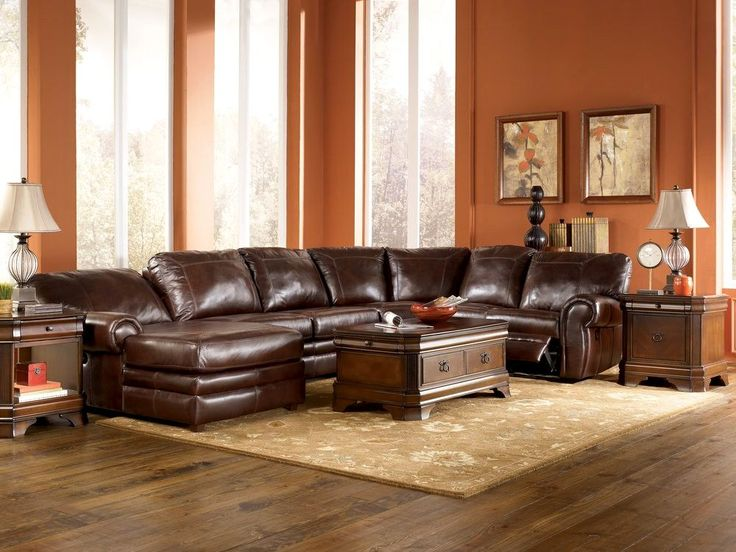 Leather Sectional Living Room Ideas Brown Leather Sectional Decorating Ideas U2026 Part 68