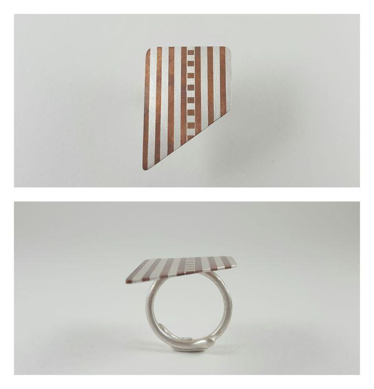 Ring,Silver 950,Copper,