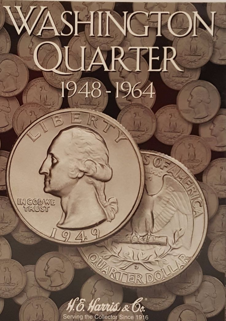 Continue your quarters album collection with the official Washington Quarter 1948-1964 coin collecting album by H.E. Harris & Co. Great for organizing, displaying, and sorting your coin collection.