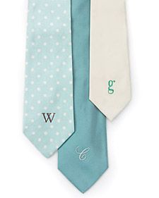 It's hard to find DIY gifts for guys but I like this idea of monogramming a tie.  Luckily for me I have an embroidery machine, but the tutorial explains how to do it by hand with embroidery thread.