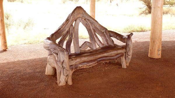 A rest seat at Uluru