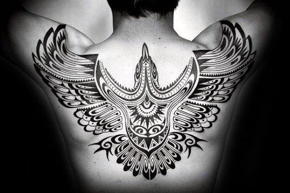 50 Tribal Bird Tattoo Designs For Men Cool Ink Ideas Back Tattoos For Guys Tattoos Back Tattoo