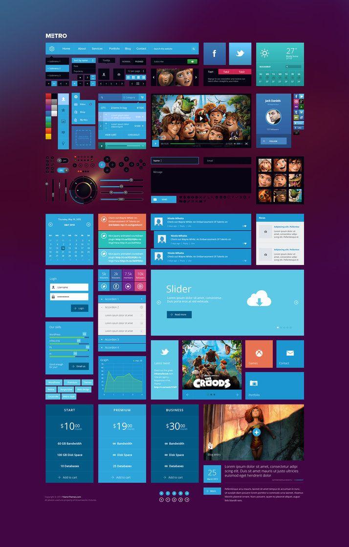 Metro style Ui Kit by *DaJyDesigns on deviantART