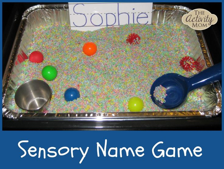 Preschool Classroom Name Ideas : Use this custom sensory activity to learn spell your