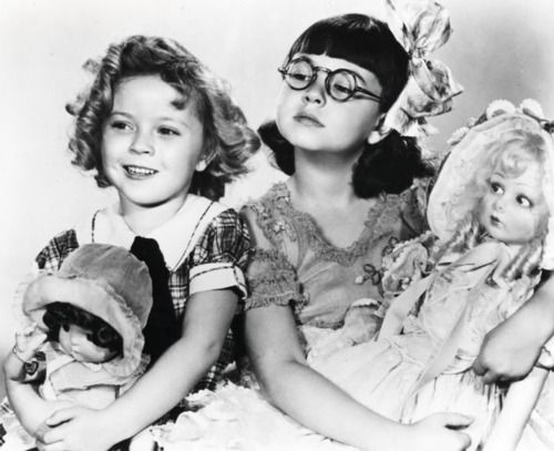 "Shirley Temple and Jane Withers in ""Bright Eyes"", 1934."