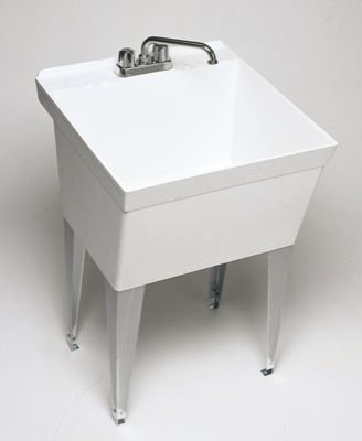 Plastic Utility Sink With Drainboard : images about Utility Sinks on Pinterest Utility sink, Laundry sinks ...