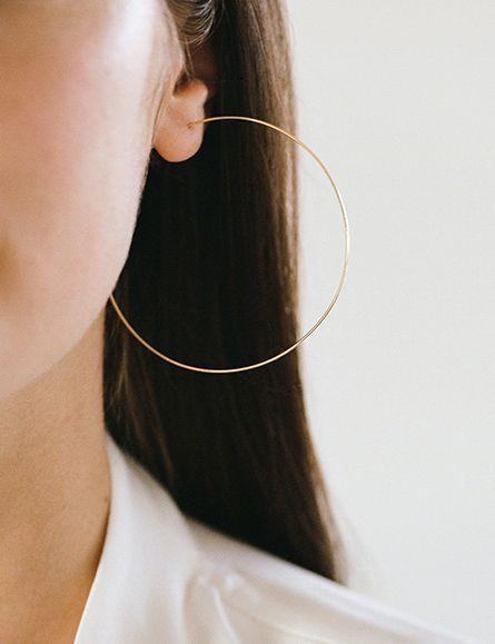Large Hoop Earring | Kathleen Whitaker