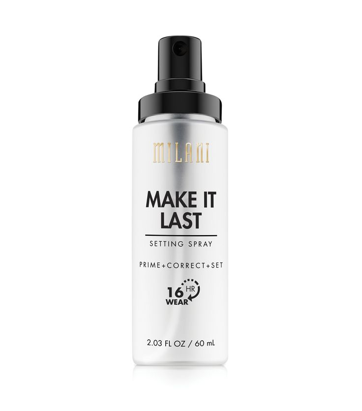 Lock in your makeup and keep that just applied look all day and into the night—no touchups needed! Make It Last Setting Spray primes, corrects and sets your look for up to 16 hours without a crease or smudge in sight, and prevents fading and shine. Spray under or over makeup, or wear on its own for a beautifully matte, flawless face.