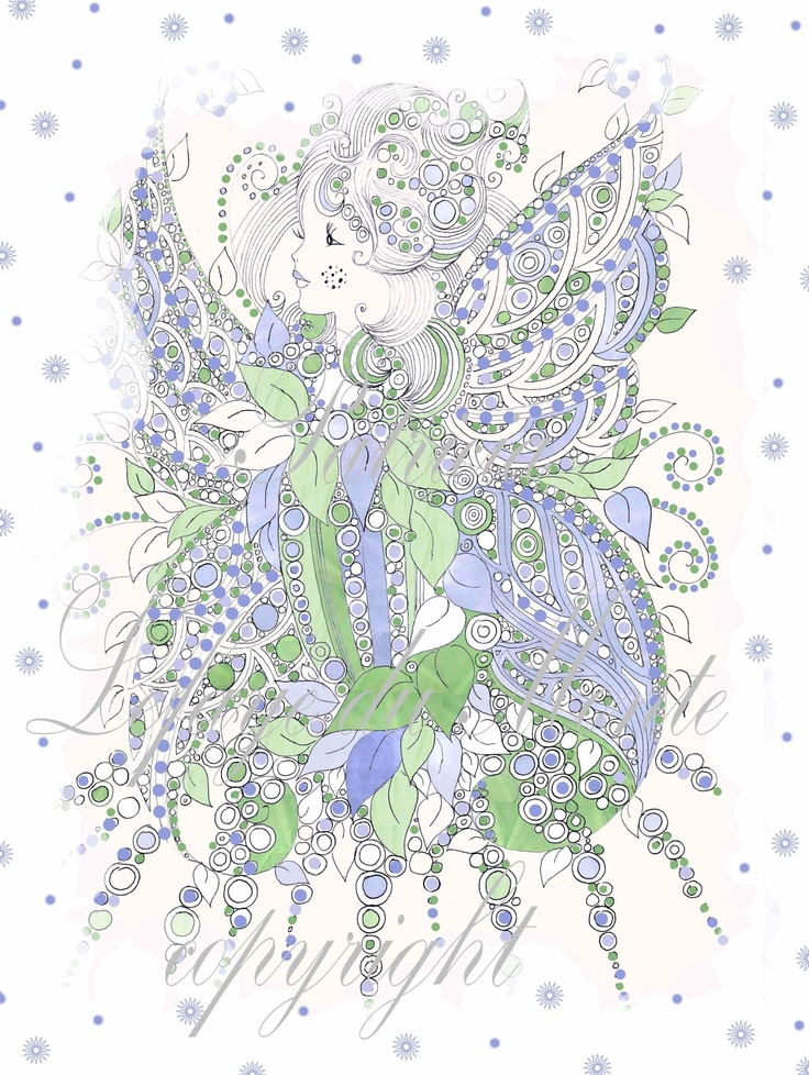 gemalte Fee, by Patricia Lefaye du Monte *